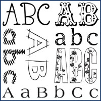 <!-- Discontinued Alphabets Stamps -->