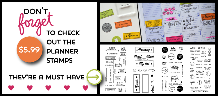 Brand New Planner Stamp Sets