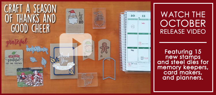Technique Tuesday Video featuring 2015 holiday clear stamps and steel dies!