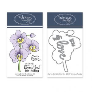 Alluring Orchid Stamp Set with Matching Dies