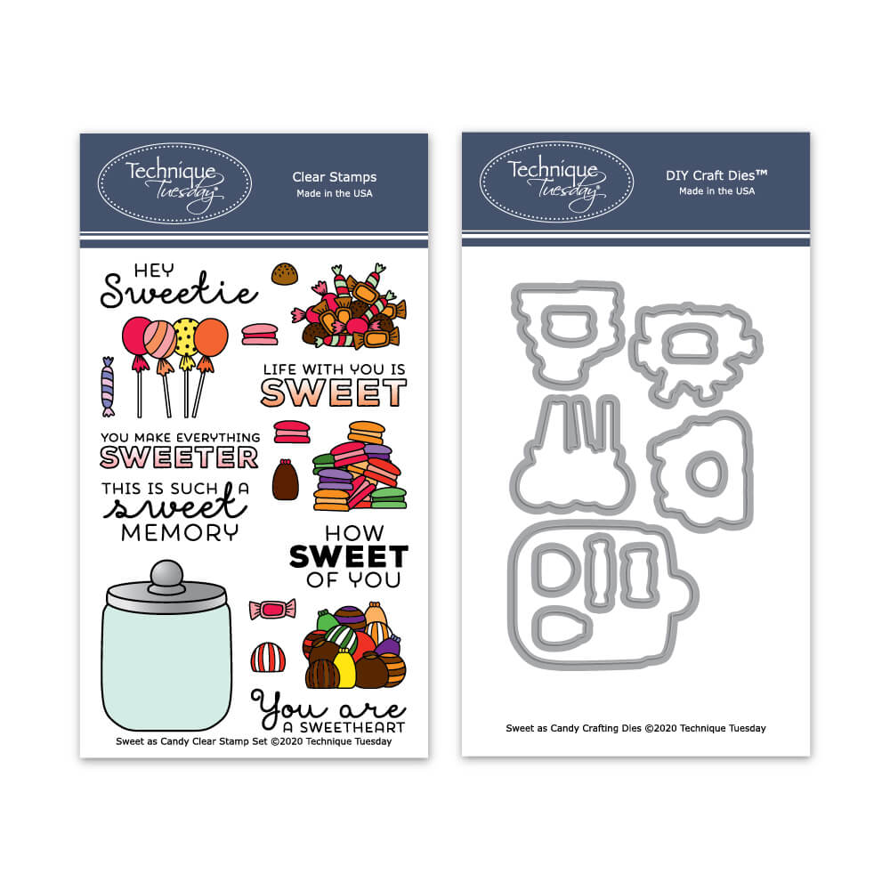Sweet As Candy Stamps Matching Dies Technique Tuesday