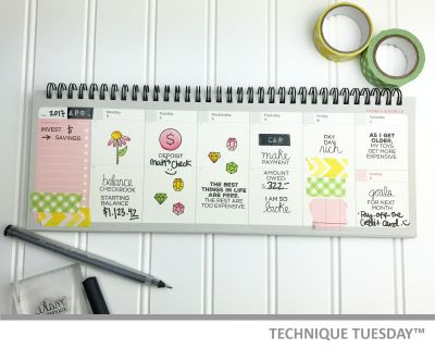 budget planner paper craft project idea technique tuesday