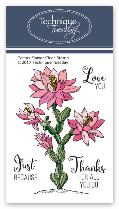 Cactus Flower Stamp Set Clear Stamps Technique Tuesday