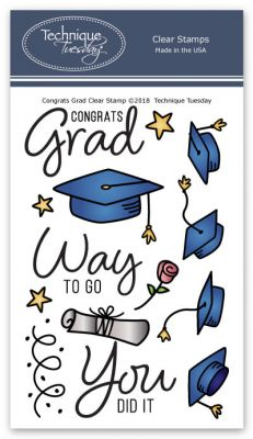 congrats grad stamp set clear stamps technique tuesday