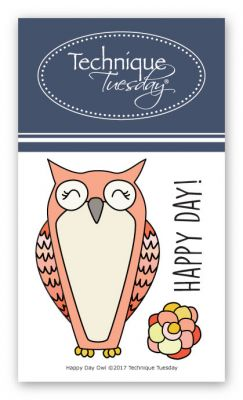 happy day owl stamp set clear stamps technique tuesday