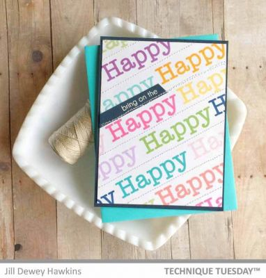 Happy Happy Happy Words Card Paper Craft Project Idea
