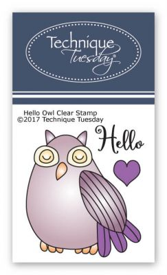 hello owl clear stamps stamp set technique tuesday