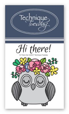 hi there owl stamp set animal clear stamps technique tuesday