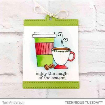 Magic Coffee Diy Gift Tag Paper Craft Project Idea