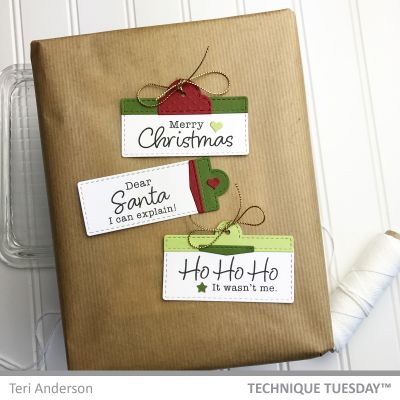 Merry Christmas Diy Gift Tags Paper Craft Project Idea