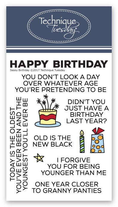 sassy birthday stamps
