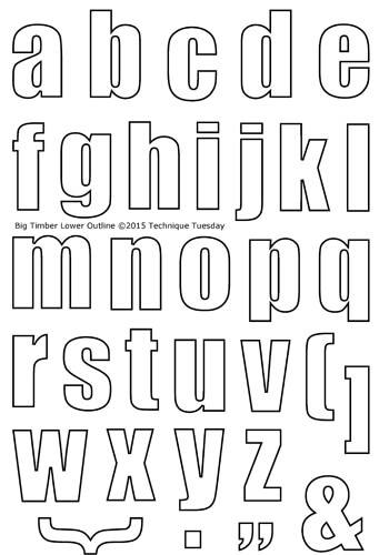 Outline Of Lowercase Alphabet Letters