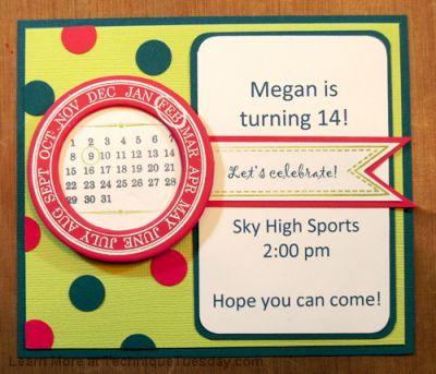 Birthday Invite Card Technique Tuesday – Card Invite