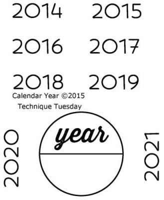 calendar years clear stamps technique tuesday