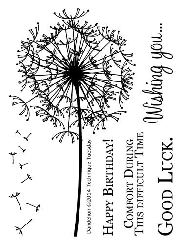 Dandelion Stamps Rubber Stamps Flowers Technique Tuesday