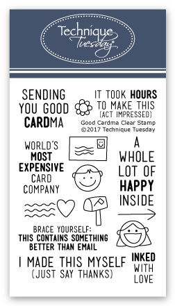 Postage Scrapbooking Stamps for Card Making by The Stamps of Life Phrases and Sentiments