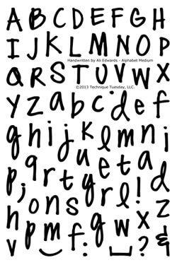 Handwritten Alphabet - Scalien