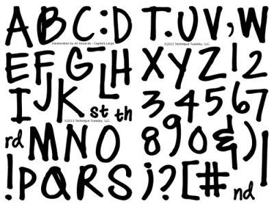 Large Handwritten Alphabet By Ali Edwards