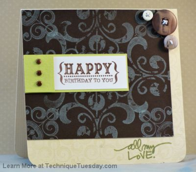 Irony Birthday Card Paper Craft Project Idea Technique Tuesday