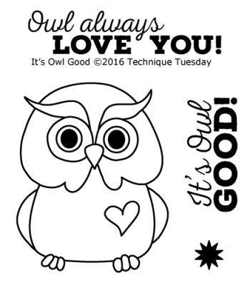 it s owl good stamp set clear stamps technique tuesday