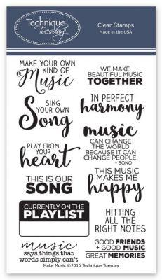 Make Music Stamp Set