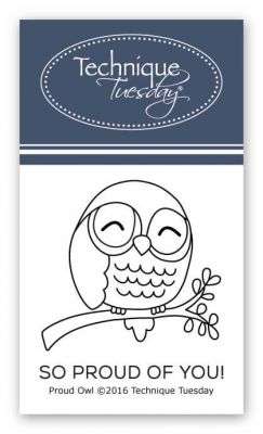 proud owl stamp set clear stamps technique tuesday