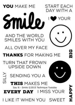 c50108540b695 Say It - Smile Stamp Set