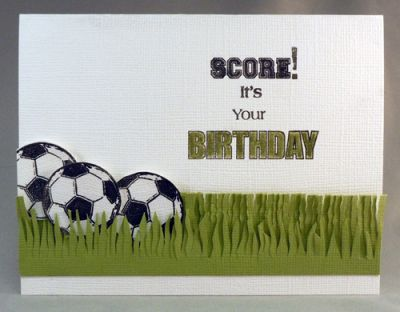 Soccer Birthday Card Paper Craft Project Idea Technique Tuesday