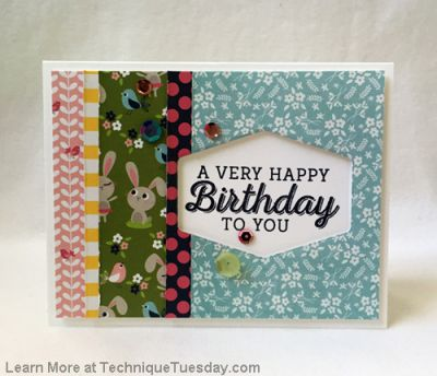 Spring Birthday Card Paper Craft Project Idea Technique Tuesday