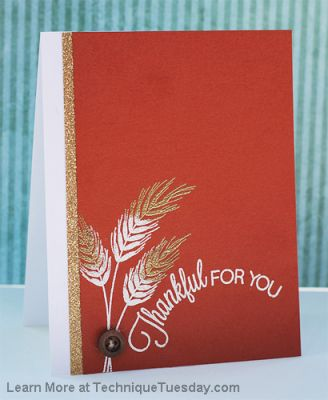 thankful for you card paper craft project idea technique tuesday
