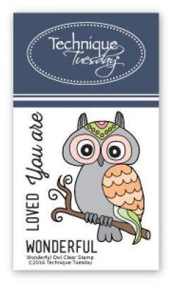 wonderful owl stamp set clear stamps technique tuesday