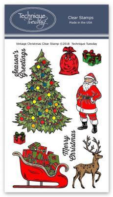 Christmas Stamps.Vintage Christmas Stamp Set