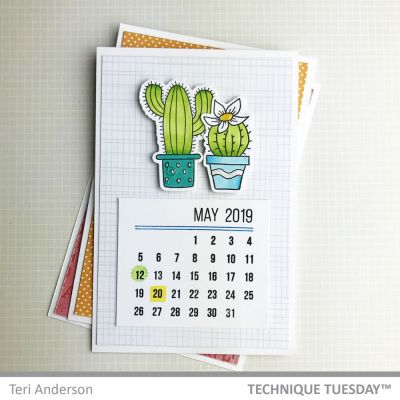 Perpetual Calendar Stamp Project 1